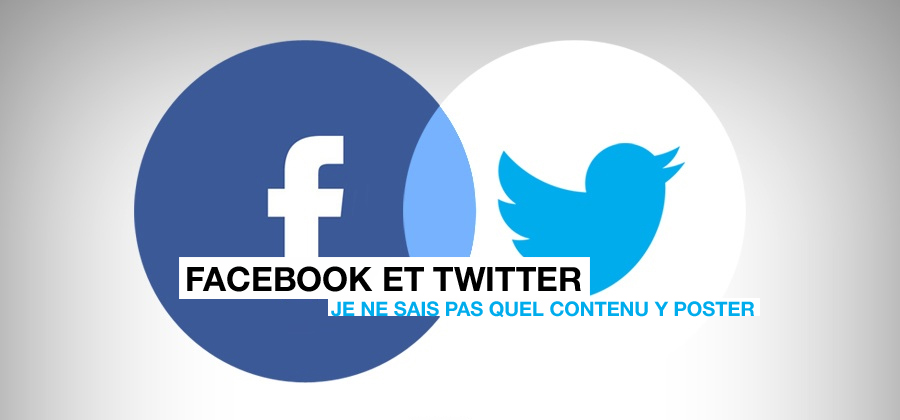 Facebook et Twitter