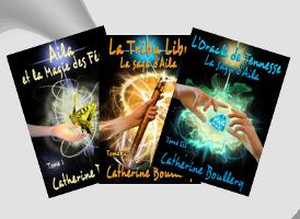 Les couvertures des deux premiers tomes de la saga de fantasy