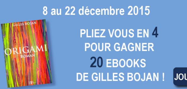 Quiz Origami, roman de Gilles Bojan - 20 ebooks à gagner !